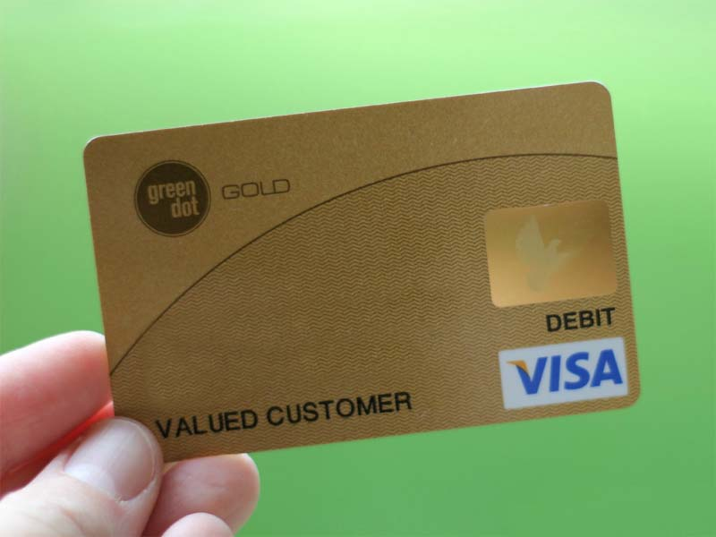 how to get money off temporary green dot card