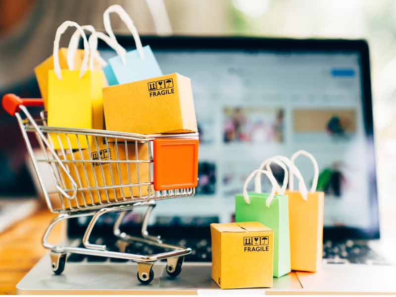 shop online and pay with checking account